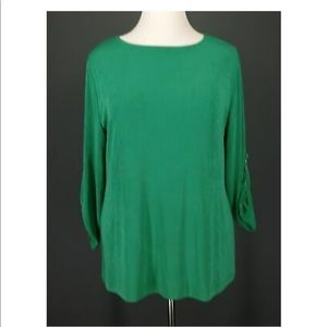 ISO (in search of) Chico's Travelers Green 3/4 top
